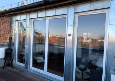 Einbau von ISO-Fenstern, Außenansicht