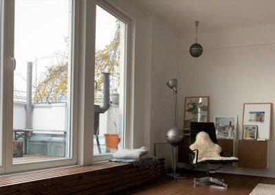 Einbau von ISO-Fenstern, Innenansicht